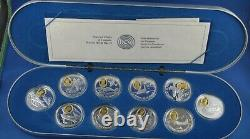 10 Coin Aviation Series Sterling Silver Set With 24-Karat Gold RCM