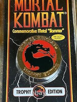 10 Coins MORTAL KOMBAT TROPHY EDITION 18K Gold SLAMMER 1992 Commemorative Metal