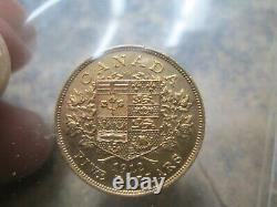 1912 Canada 5 Dollar Gold In Uncirculated Condition