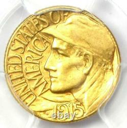 1915-S Panama Pacific Gold Dollar G$1 Coin Certified PCGS AU58 Rare