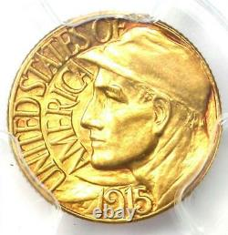1915-S Panama Pacific Gold Dollar G$1 Coin PCGS Uncirculated Details (UNC MS)