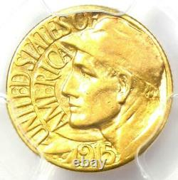 1915-S Panama Pacific Gold Dollar Pan-Pac G$1 Coin Certified PCGS AU55 Rare