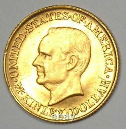 1916 McKinley Commemorative Gold Dollar Coin G$1 Uncirculated Detail (UNC, MS)