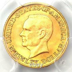 1917 McKinley Commemorative Gold Dollar Coin G$1. PCGS Uncirculated Detail (UNC)