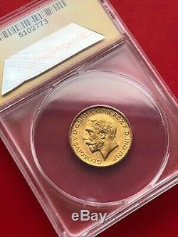 1918 c Canada Sovereign Gold Coin ANACS MS-62