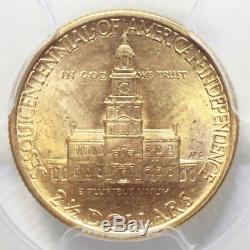 1926 $2.50 Sesquicentennial PCGS MS63 Rev. Tye's Coin Stache #9767510