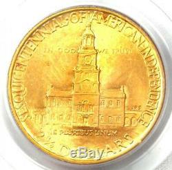 1926 Sesquicentennial Gold Quarter Eagle $2.50 Sesqui Coin PCGS MS62 (BU UNC)