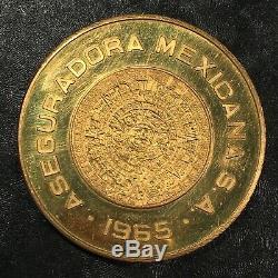 1965 Mexico 50 peso Commemorative Gold Coin ASEGUADORA MEXICANA S. A. #i290a