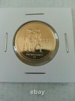 1976 Canada Olympic $100 Gold 1/4 Ounce 14 Kt. Uncirculated Coin 1 Coin Per Lot