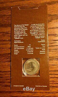 1976 Canadian $100 Gold Coin 14k Montreal Olympics Commemorative Mint