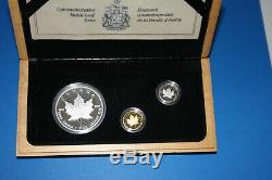 1979 -1989 10th Anniversary Set, Silver, Gold and Platinum Coins