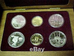1983-1984 Olympic 6 Coin Set 2 $10 Gold Coins 4 Silver Dollars Proof and BU