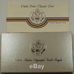 1984-P U. S. Mint Proof Olympic $10 Commemorative Gold Coin as Issued