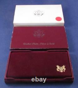 1984 S Olympic $10 PROOF Commemorative GOLD Coin with Box & Sleeve