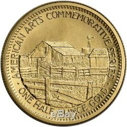 1984 US Gold (1/2 oz) American Commemorative Arts Medal John Steinbeck BU