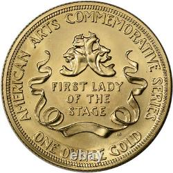 1984 US Gold (1 oz) American Commemorative Arts Medal Helen Hayes BU