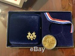 1984 US Olympic $10 Gold Eagle Proof -W Coin (1) Coin Very Collectible COA
