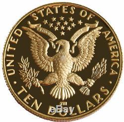 1984-W Los Angeles Olympiad $10 PRF Gold Commemorative