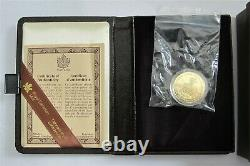 1985 CANADA $100 DOLLARS GOLD COIN NATIONAL PARKS 9999 1/2 Troy Oz