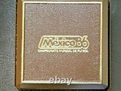 1985 Mo Mexico Gold 1/4 oz Proof 250 Pesos World Cup Soccer Commemorative Gold
