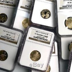 1986-2011 US $5 Gold Commemorative Set NGC MS70/PF70 (52 Coins)