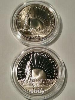1986 6 Coin Liberty Set. $5 Gold, $1 Silver, $0.50. Proof+ Uncirculated versions
