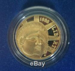 1986 Liberty (3) Coin PROOF Commemorative Set 90% Pure Gold 90% Pure Silver BU