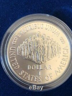 1987 US Constitution 4-Coin Commemorative Set, gold, silver, proof, uncirculated