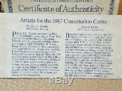 1987 US Constitution 5 dollar Gold and Silver dollar coin set with COA