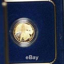 1987 U. S. Mint Constitution $5 Gold Proof Commemorative Coin With Box & COA OGP