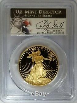 1988-W $50 Gold Eagle PCGS PR70DCAM Philip Diehl