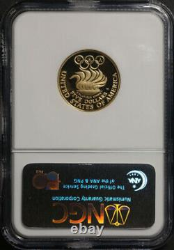 1988-W Olympics Commem Gold $5 Coin NGC PF69 Ultra Cameo Brown Label STOCK