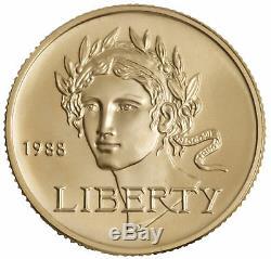 1988-W Seoul Olympics $5 UNC Gold Commemorative