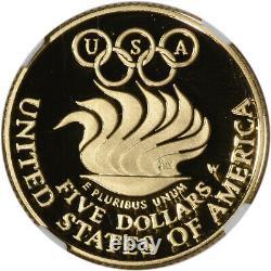 1988-W US Gold $5 Olympic Commemorative Proof NGC PF70 UCAM