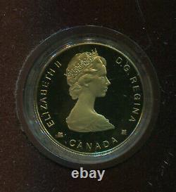 1989 Canada $100 Gold Coin Proof Mib (a389) Sainte Marie 1/4 Oz. 999 Gold