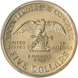 1989-W US Gold $5 Congressional Commemorative BU PCGS MS69