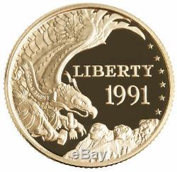 1991-W Mount Rushmore $5 PRF Gold Commemorative