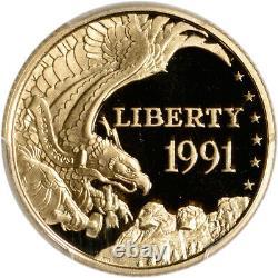 1991-W US Gold $5 Mount Rushmore Commemorative Proof PCGS PR69 DCAM