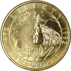 1992 W $5 Christopher Columbus Commemorative Gold Coin BU Choice Uncirculated