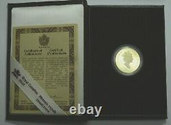 1993 CANADA $100 DOLLARS GOLD COIN THE HORSELESS CARRIAGE PROOF 1/4 Oz