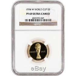1994-W US Gold $5 World Cup Commemorative Proof NGC PF69 UCAM