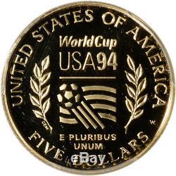 1994-W US Gold $5 World Cup Commemorative Proof PCGS PR69 DCAM