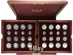 1995-1996 OLYMPIC Games Atlanta Commemorative Coins GOLD SILVER CLAD Complete
