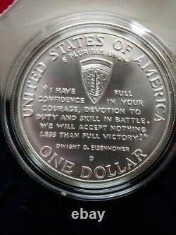 1995 $5 Gold, $1 Silver + Half Dollar World War II 3 Coin Set Uncirculated Box