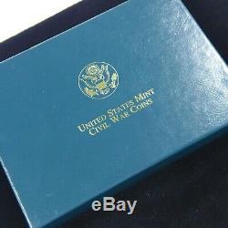 1995 Civil War Battlefield Gold Silver & Clad 6 Coin Proof & UNC Set In OGP