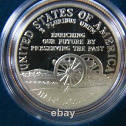 1995 S & W Civil War Battlefield 3-Coin Commem Gold Proof Set in Union Case