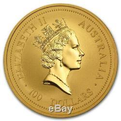1996 AUSTRALIA 1oz. 999 GOLD LUNAR RAT SERIES 1 $100 LUNAR GOLD COIN