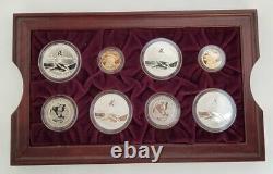 1996 Atlanta US Olympics 16 Proof Gold & Silver Coin Set Original Box & COA