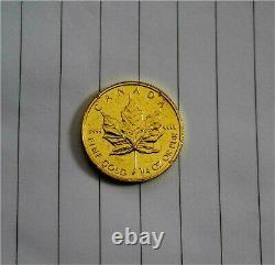 1996 Canada Maple Leaf $10 9999 Gold Coin 1/4 oz Scrap