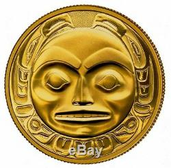 1997 CANADA $200 HAIDA Mask THE RAVEN 22k 1/2oz GOLD Proof COIN ONLY RARE